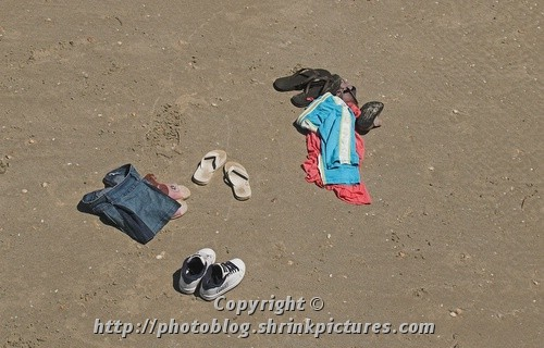 Clothes in the sand